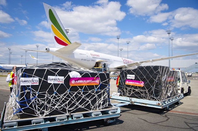 Ethiopian A350 delivery aid
