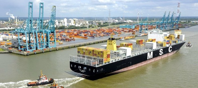 MSC at the port of Antwerp