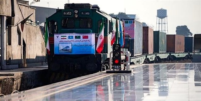 China-Iran train arrives