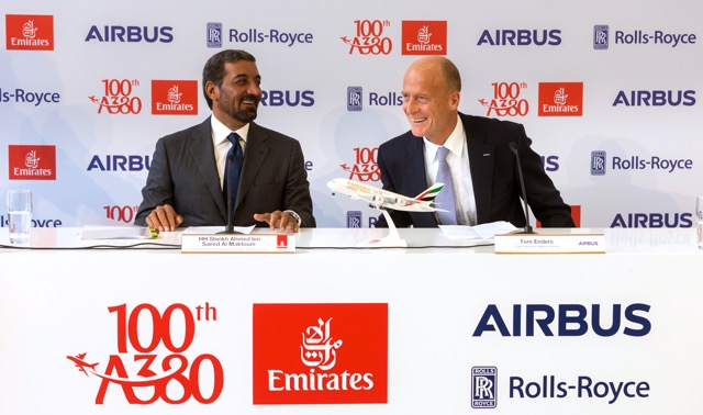 Emirates and Airbus  CEOs