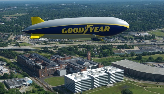 Good year blimp and HQ