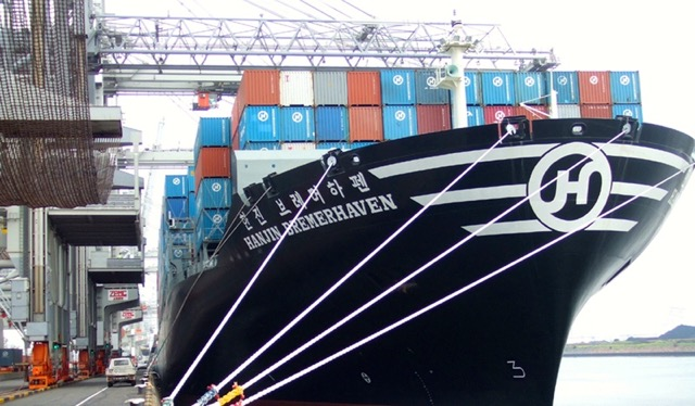 Hanjin containership
