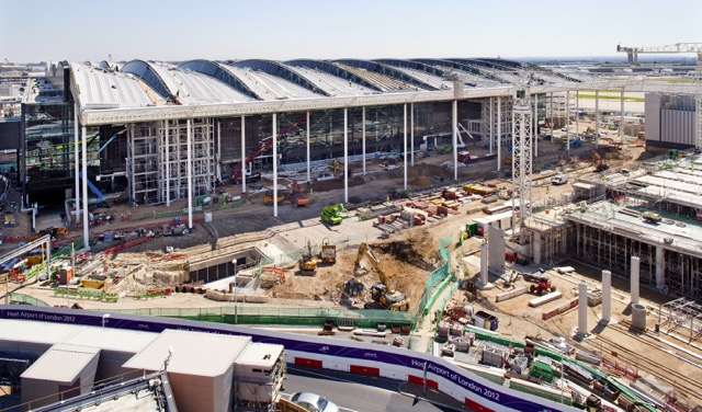 Heathrow T2 construction