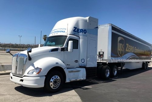 Kenworth Toyota hydrogen powered truck