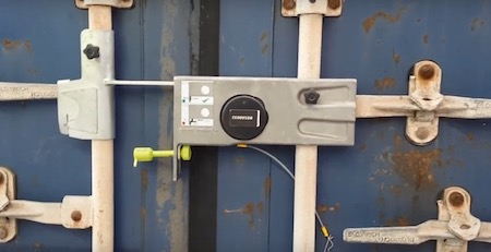 centrack lock on container