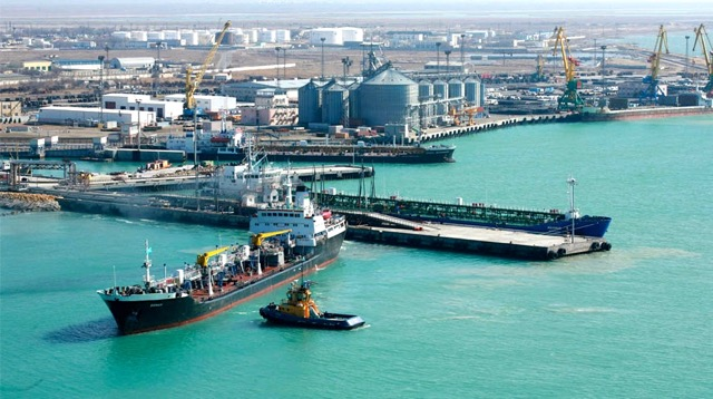 port of Aktau Kazahkstan